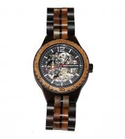 wood watch brown ebony and lignum vitae large self winding