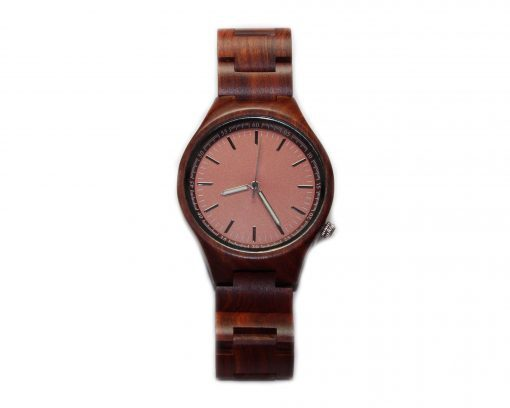 red sandalwood wooden watches wood watch pink face