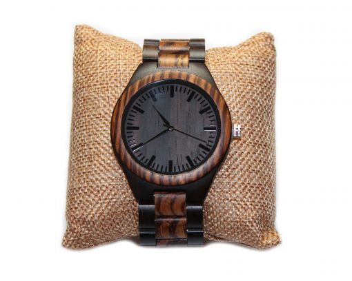 blackwood and zebrawood wooden watches wood watch
