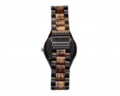 blackwood and zebrawood wooden watches wood watch band