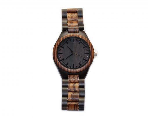 blackwood and zebrawood wooden watches wood watch face