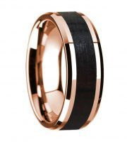 14k rose gold blackwood wooden ring