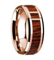 14k rose gold rosewood wooden ring