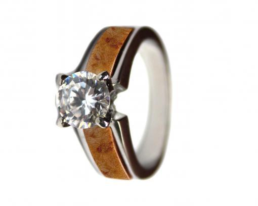 wood engagement ring burl