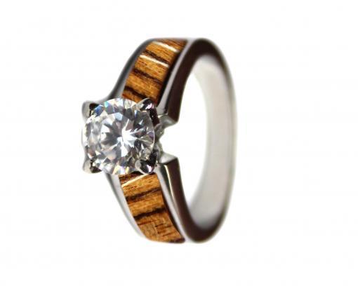 wood wedding rings bocote