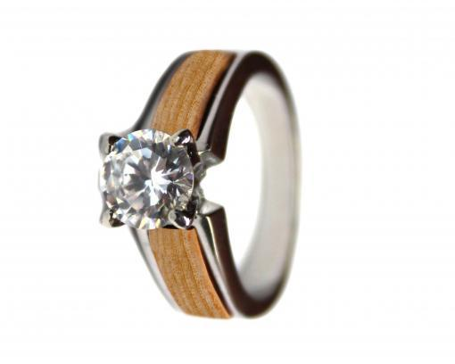 wood wedding rings pine