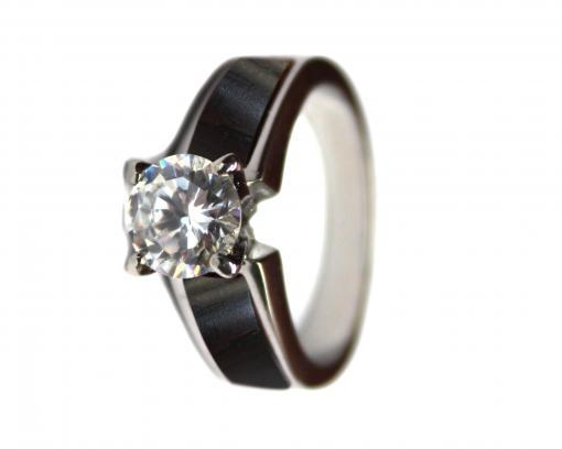 wooden engagement ring blackwood