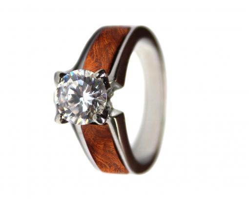 wooden wedding ring amboyna burl
