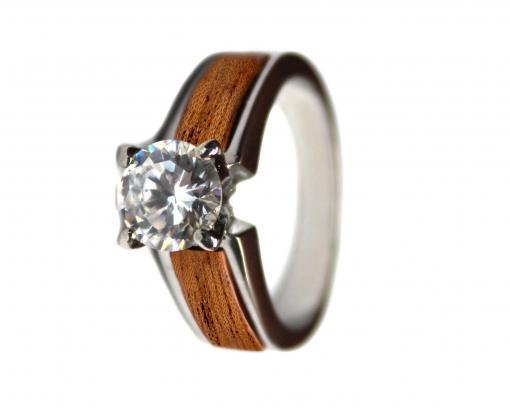 wooden wedding ring mahogany
