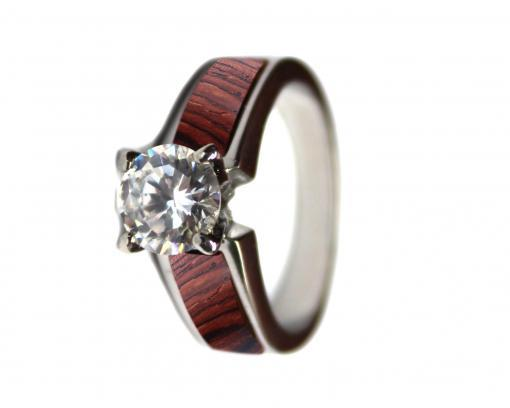 wooden wedding rings rosewood