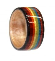 Pride LGBTQ rainbow wooden ring